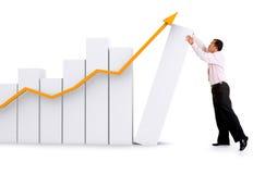 企业增长成功 免版税库存图片