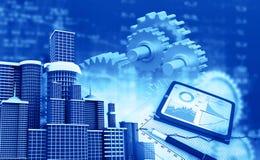 企业增长chart.eps10.vector 免版税图库摄影