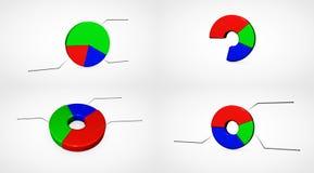 企业增长chart.eps10.vector 免版税库存照片