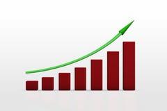 企业增长chart.eps10.vector 库存照片