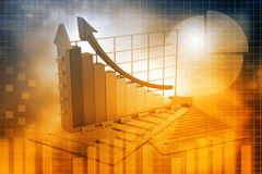 企业增长chart.eps10.vector 库存图片