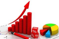 企业增长chart.eps10.vector 免版税库存图片