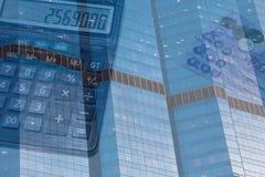 企业大厦财务背景 库存图片