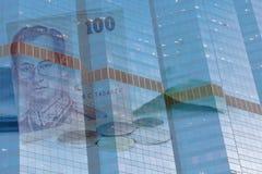 企业大厦财务背景 免版税图库摄影