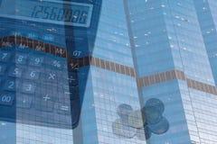 企业大厦财务背景 库存照片