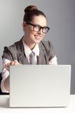 企业夫人微笑 免版税库存照片