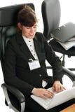 企业夫人膝上型计算机 免版税图库摄影