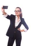 企业夫人selfie 库存图片