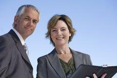 企业夫妇体验 免版税图库摄影