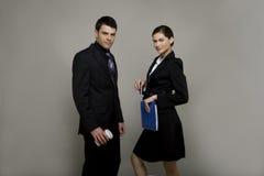 企业夫妇年轻人 免版税库存图片