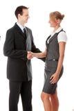 企业夫妇符号交换年轻人 库存图片