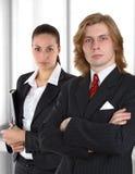 企业夫妇视窗 免版税库存图片