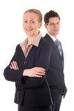 企业夫妇 免版税图库摄影