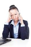企业失望的妇女 免版税库存图片