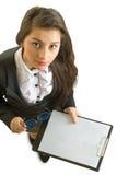 企业女孩。 免版税库存照片