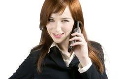 企业女孩年轻人 免版税库存图片