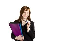企业女孩年轻人 免版税图库摄影