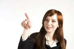 企业女孩年轻人 免版税库存照片