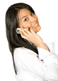 企业女孩电话 免版税库存图片
