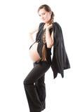 企业女实业家怀孕的诉讼 免版税库存照片