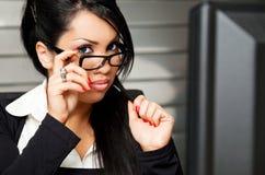 企业女性教师 免版税库存图片