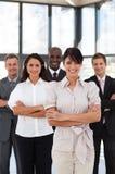 企业女性领导先锋纵向垂直 免版税库存照片
