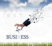 企业字词 免版税库存图片
