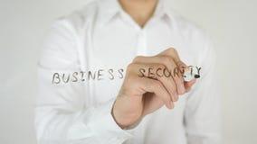 企业安全,写在玻璃 免版税库存图片