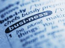 企业定义 免版税图库摄影