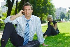 企业室外人员 免版税库存照片