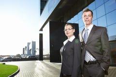 企业室外人员 免版税库存图片