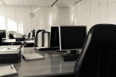 企业室whith计算机 免版税库存照片