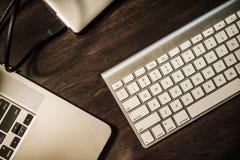 企业家工作书桌 免版税库存图片