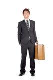 企业家旅行的年轻人 免版税库存照片