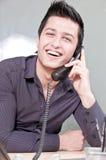 企业家电话年轻人 库存图片