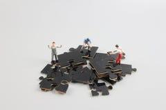 企业对组织工作难题拼合 免版税库存照片