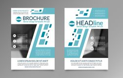 企业小册子布局模板 前面和登在报纸最后部分在A4大小 能为盖子设计,飞行物,传单,小册子使用 免版税库存图片