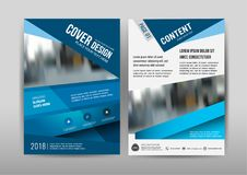 企业小册子模板设计 年终报告的盖子布局 免版税库存照片