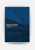 企业小册子蓝色现代传染媒介摘要小册子 免版税图库摄影