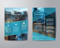 企业小册子飞行物在A4大小的设计版面模板,与 免版税库存图片