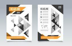 企业小册子飞行物布局模板 能为盖子,书,杂志,小册子,传单使用 A4大小 免版税库存照片