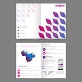 企业小册子,模板设计 免版税图库摄影