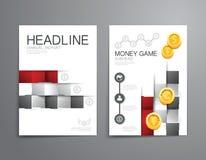 企业小册子,飞行物,杂志封面设计模板传染媒介 免版税库存图片
