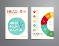 企业小册子,飞行物,杂志封面设计模板传染媒介 免版税图库摄影