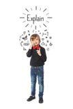 企业小男孩 免版税图库摄影