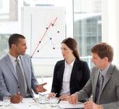 企业小组交谈在业务会议 免版税库存图片