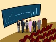 企业小组和配合metaphore 免版税库存图片