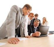 企业小组工作年轻人 免版税图库摄影