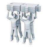 企业小组工作 免版税库存图片