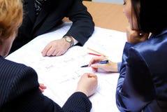 企业小组工作 图库摄影